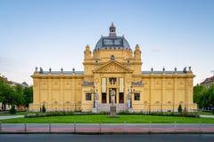 Art Pavilion in Zagreb Croatia lizenzfreie stockbilder