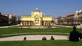 Art Pavilion in Zagreb, Croatia Stock Image