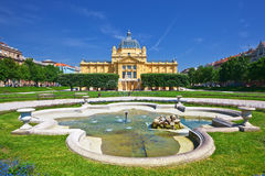Art pavillion in Zagreb Royalty Free Stock Photos