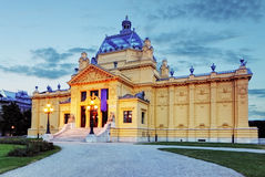 Art pavillion in Zagreb. Croatia Royalty Free Stock Photo