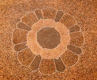 The Art of pebble floor Stock Photos