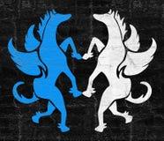 Art pegasus symbol Royalty Free Stock Photography
