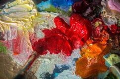 Art peignant le fond abstrait Images libres de droits