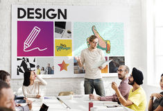 Art Pencil Drawing Creativity Imagination-Vaardighedenconcept Stock Fotografie