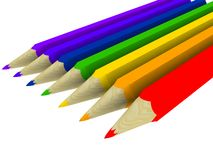 Art pencils. The colour of the rainbow in pencils Stock Image