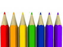 Art pencils. The colour of the rainbow in pencils stock illustration