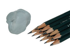 Art pencils Stock Photo