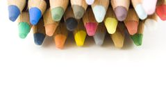 Art Pencils Top Border Royalty Free Stock Images