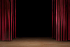 Art performance  stage with red curtain Stock Photography