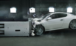 Art photo of crashed car Stock Image