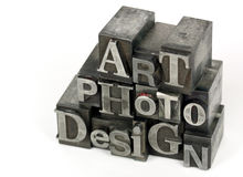 ART PHOTO DESIGN word Stock Photo