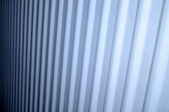 Art photo line of white radiator. One photo from the radiator white to darker color Royalty Free Stock Photography