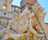 Art at the Piazza Navona in Rome stock photos