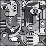 Art Picture astratto a fondo grigio Immagini Stock