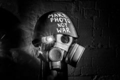Art picture of a military gas mask royalty free stock photos