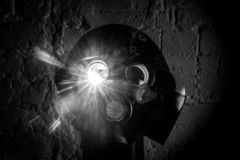 Art picture of a military gas mask royalty free stock photography