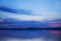 Art picture of the sunset over the lake Stock Photos