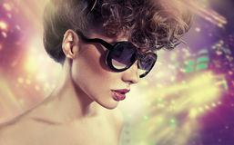 Art picture of woman with stardust Royalty Free Stock Photos