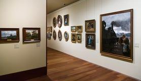Art pictures in interior of San Telmo Museum in San Sebastian Stock Photo
