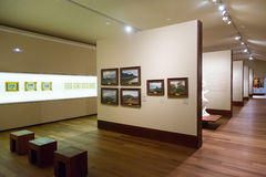 Art pictures in interior of San Telmo Museum in San Sebastian Royalty Free Stock Photos