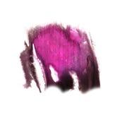 Art Pink, gota marrón de la pintura de la tinta de la acuarela Foto de archivo libre de regalías