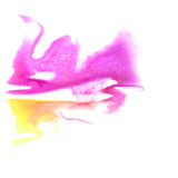 Art Pink, yellow watercolor ink paint blob Royalty Free Stock Image