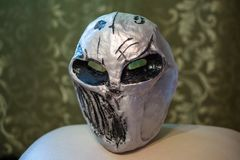 Art plastic mask for face. Mask of scary personage stock images