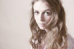 Art portrait of beautiful woman Stock Photos