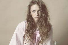 Art portrait of beautiful woman Royalty Free Stock Photography