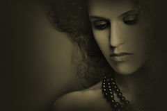Art portrait closeup woman Stock Photo