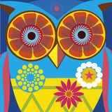 Art portrait of a comic owl Royalty Free Stock Photography