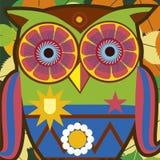 Art portrait of a comic owl general Stock Photo