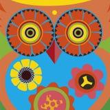 Art portrait of a comic owl queen Stock Images