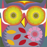 Art portrait of a comic owl teacher Royalty Free Stock Photography