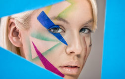 Art portrait with fashion make up Stock Photography
