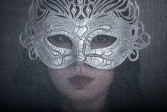 Art portrait woman in mask Stock Photography