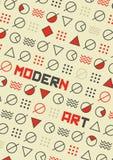 Art Poster moderne abstrait et fond géométrique Photos stock