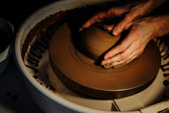 The art of pottery Stock Image