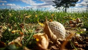 Golf ball view royalty free stock images