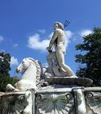 Neptune statue fountain in Prince`s House royalty free stock photo