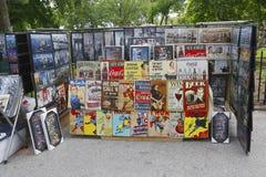Art prints vendor in Battery Park in Lower Manhattan Stock Photos