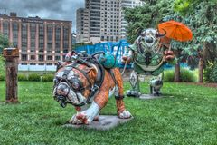 2014 Art Prize Exhibit. In Grand Rapids Michigan. The name of this very creative exhibit is Mudpuppy stock photography
