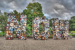 2014 Art Prize Exhibit. In Grand Rapids Michigan.  The name of this very creative exhibit  is Now with over 1200 clocks Stock Photography