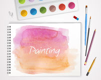 Art process with watercolor Royalty Free Stock Photography
