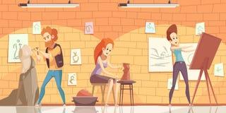 Art Professions Background vector illustratie
