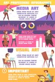 Art Professions Infographic Set Illustration Libre de Droits