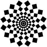 Art psychédélique abstrait noir et blanc Photos stock