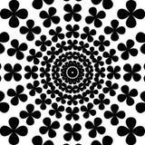 Art psychédélique abstrait noir et blanc Images stock