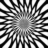 Art psychédélique abstrait noir et blanc Photo stock