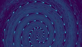 Art psychédélique de remous d'hypnose Fond à la mode graphique de remous de syntwave image stock